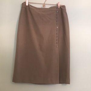 Ann Taylor wrap pencil skirt. Size 10. Tan.